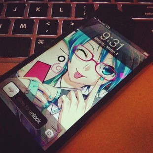 Otaku King's iPhone 5 Lock Screen Wallpaper