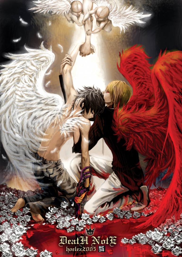 Death Note - L and Light - Angels
